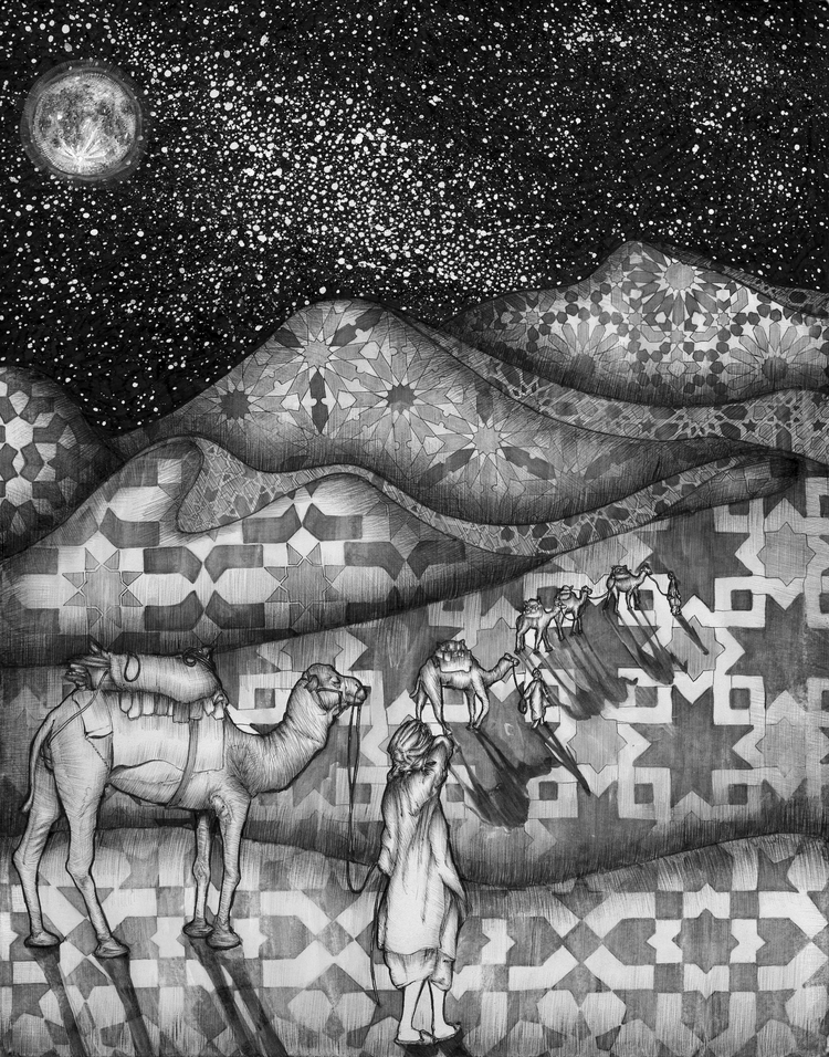 Arabian Nights. Ballpoint Pen.  - ecmazurart | ello