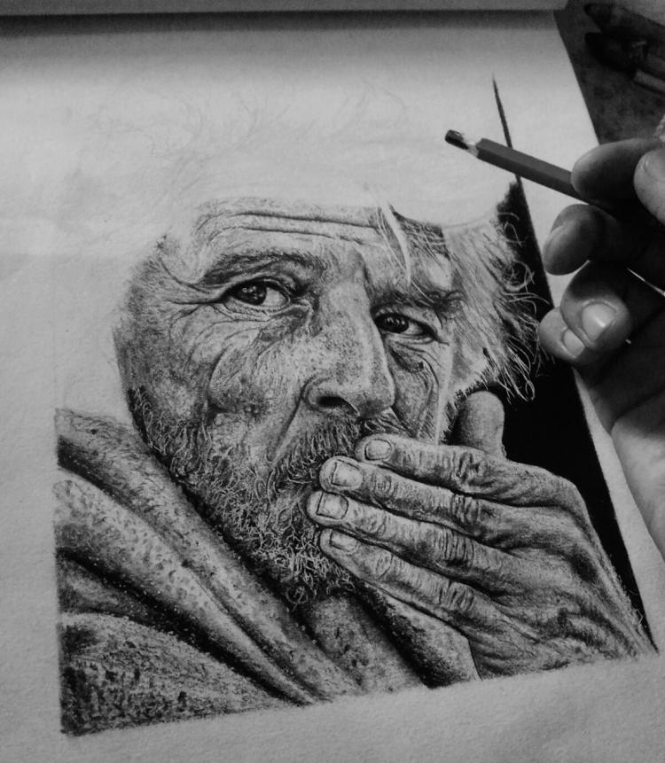 hyperrealism drawing progress c - ashutosht82 | ello
