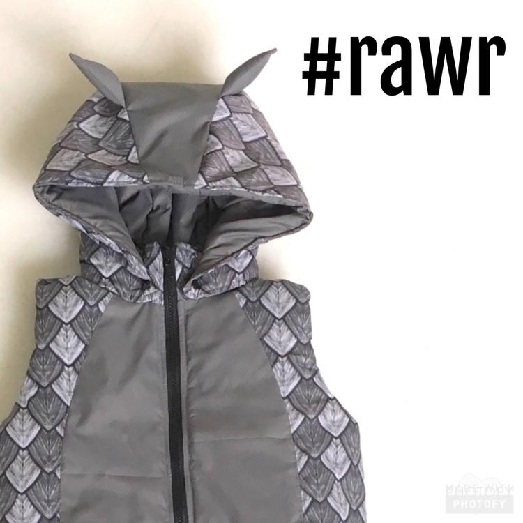 RAWR! Grey dragon vest complete - beaneroobaby | ello