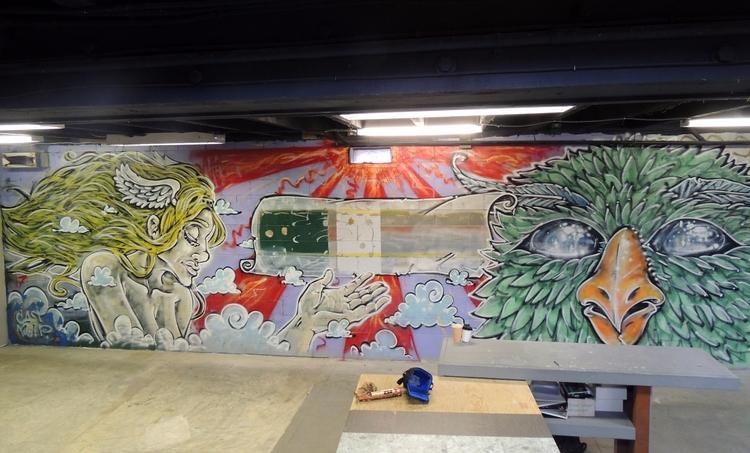 belt  - Mural, elloart, muralism - lookupcatnip | ello