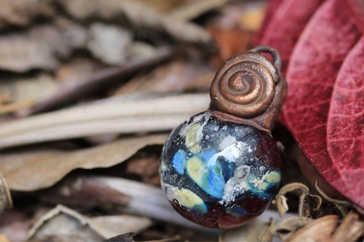 Copper electroformed lampwork g - donni-didit | ello