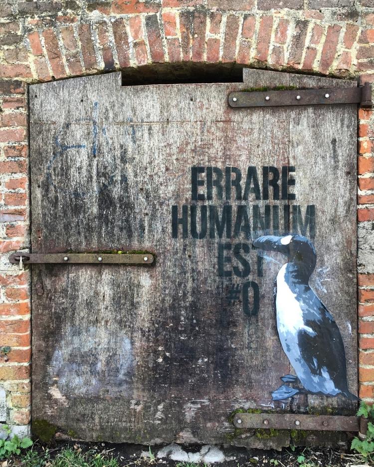Errare Humanum Est - street, streetart - philippefabry   ello