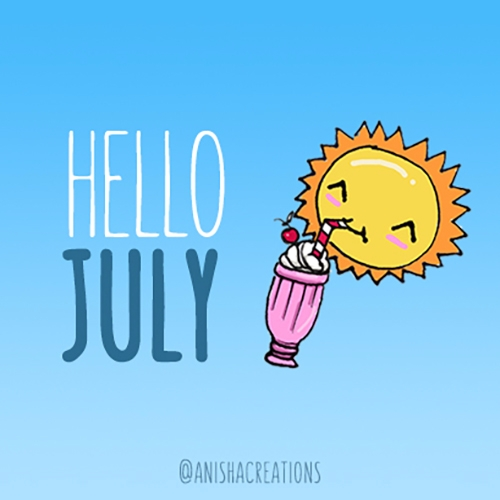 July! :raised_hand::strawberry - anishacreations | ello