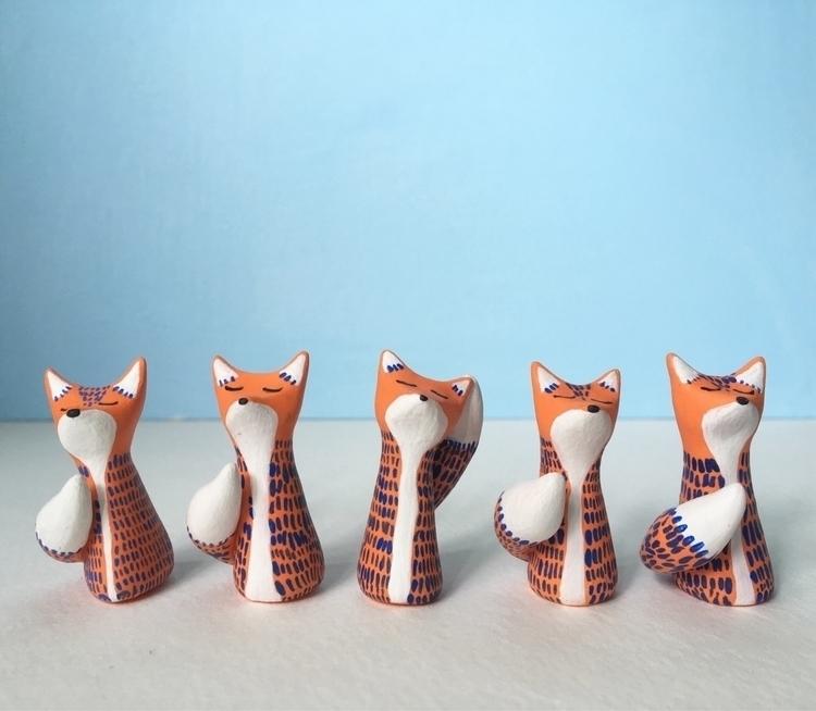 family foxes  - shopetsy, etsy, handmade - undergrowthgoods | ello