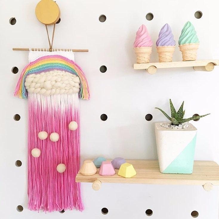 Beautiful rainbow weave amazing - sweetyellowdecor | ello