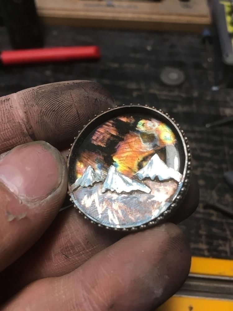 Labradorite pendant process - labradorite - sagesleaf | ello