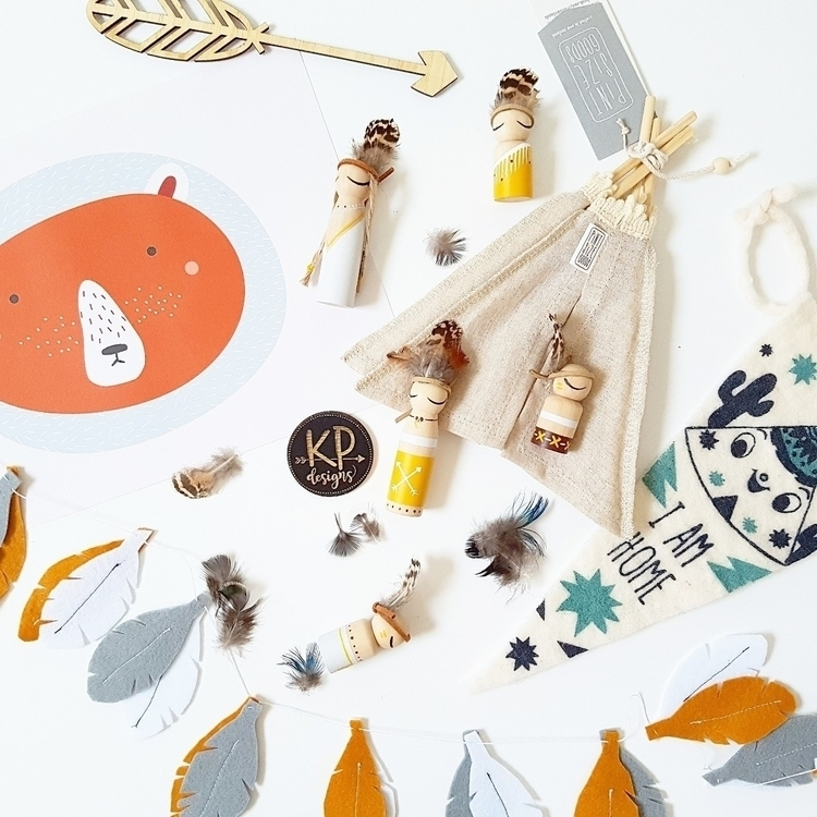 Gorgeous flatlay Boho tribe peg - kpdesigns | ello