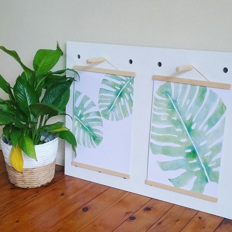 Monstera leaf prints website - modernnursery - bluegingerdesign | ello