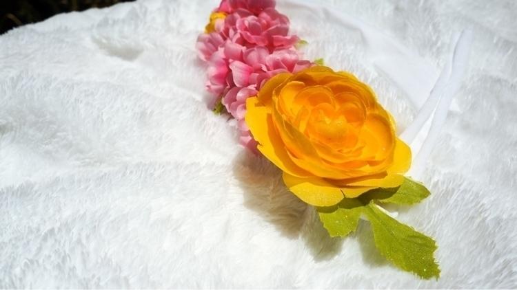 Grab tie GLITTER floral headban - rosebabybowtique | ello