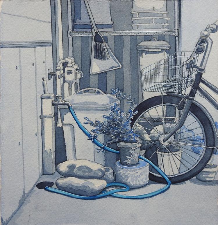 Tokyo Corner - watercolor, watercolour - bluebearvendingco | ello