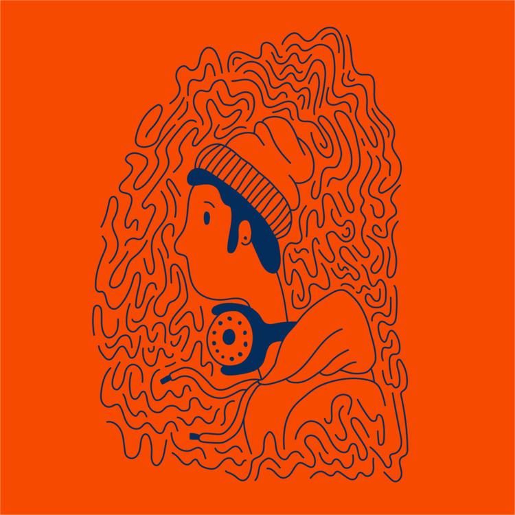 Headphones Hoodies - illustration - heybop | ello