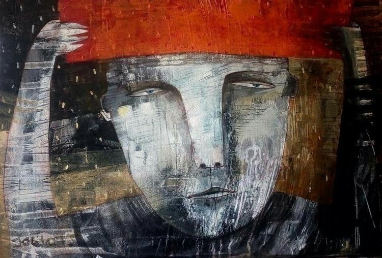 hidden canvas acrylic 40X60 - contemporaryart - jolitacc | ello