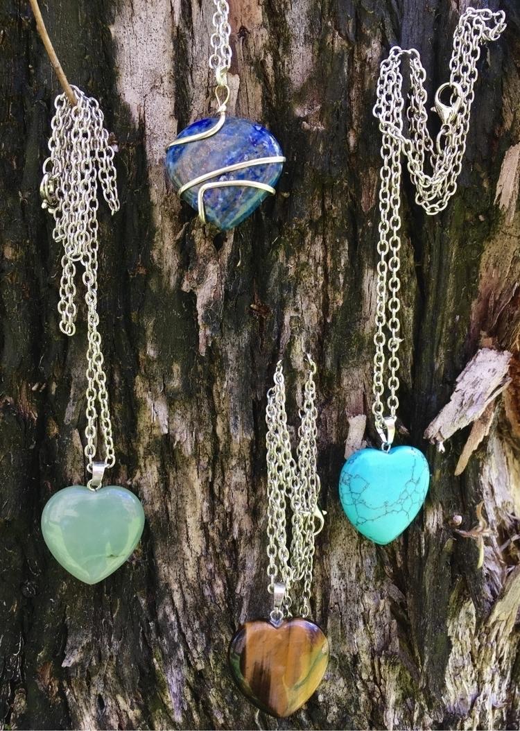 Heart stone pendants sodalite,  - aljewelers | ello