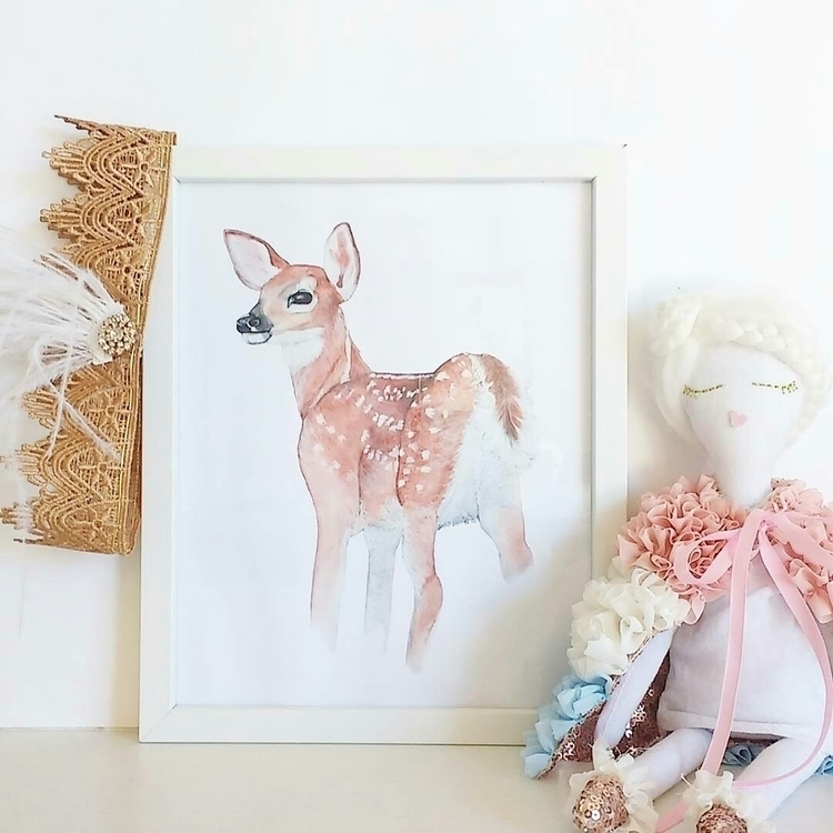 Fawn Art Print . supportsmallau - thewhimsicalwall | ello