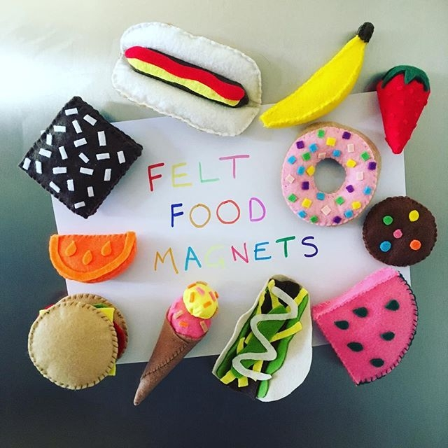 Felt Food mini fridge magnets h - pambags | ello