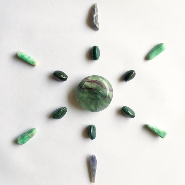 Crystal grid variscite, bloodst - crystalembroidery | ello