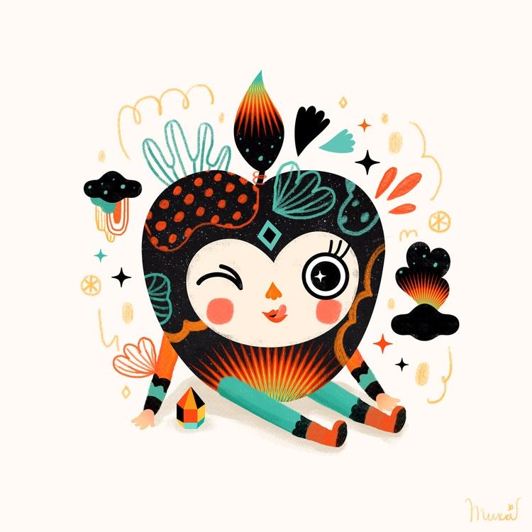 Bite - illustration, digital, characterdesign - muxxi | ello