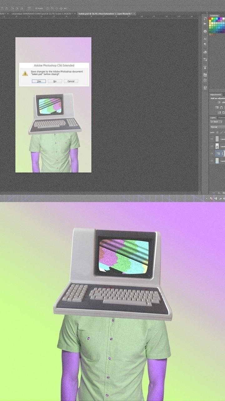 Computer < >Manception - degradé - valenvq   ello