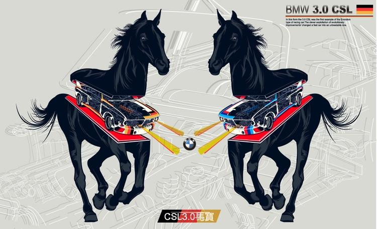 BMW 3.0CSL - DigitalDecadeCyberia - kzengjiang | ello