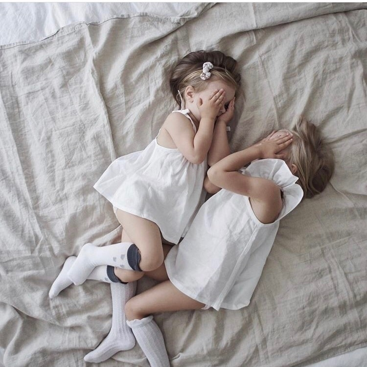 Beautiful sisters wearing white - bluedaisywares | ello