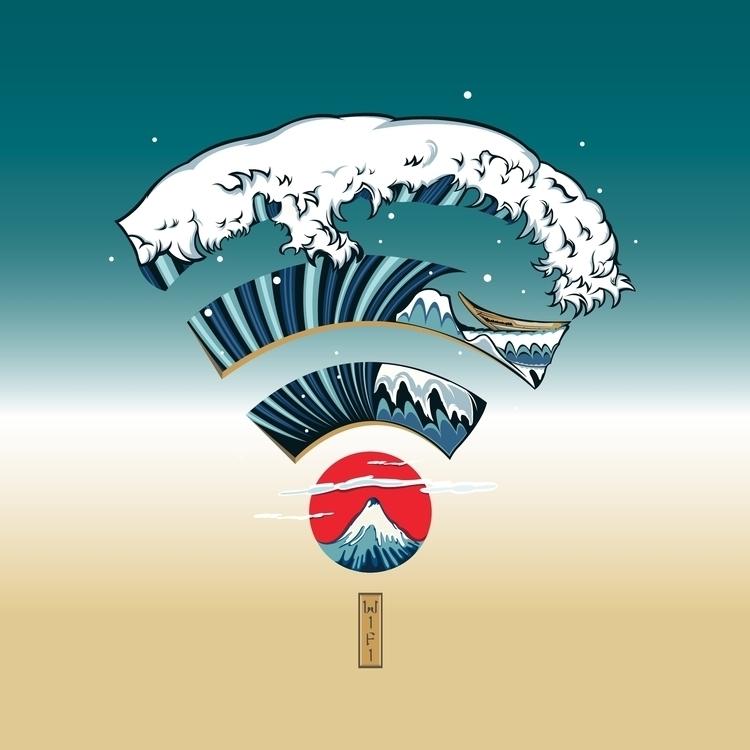 WIFI Sea - DigitalDecadeCyberia - kzengjiang | ello