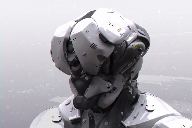 robot, zbrush, military, scifi - dmytrivmax | ello