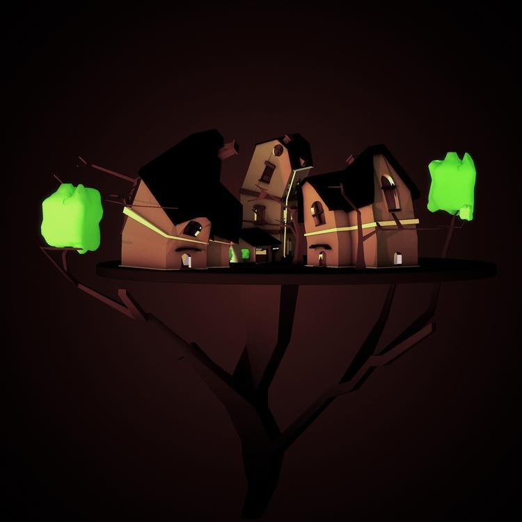 magix - home, lowpoly, witch, black - kiraimane | ello