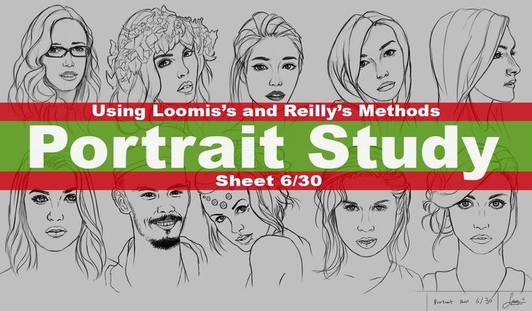 Portrait Drawng - Practice Shee - rain_walker | ello