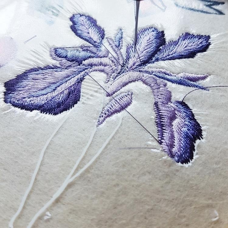 work progress today - EmbroiderybyKGDesign - embroiderybykgdesign | ello