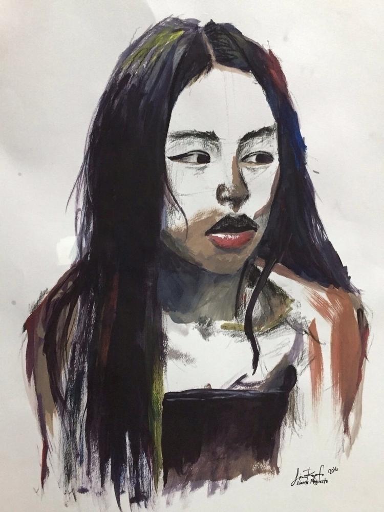 Charcoal ~ Acrylic 20x15 - leii | ello