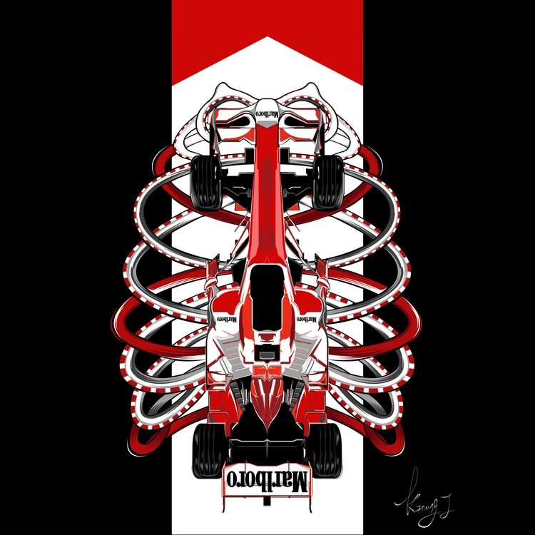F1 Marlboro - DigitalDecadeCyberia - kzengjiang | ello