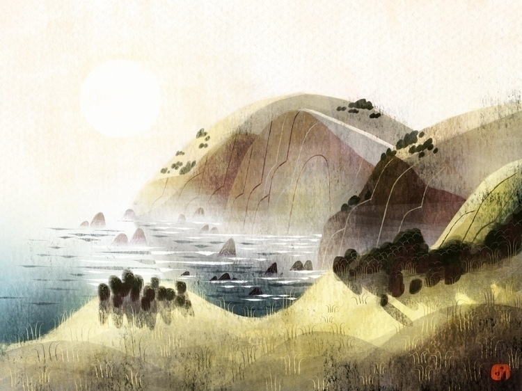 Tomales Point. quick sketch hik - glenndergarten | ello