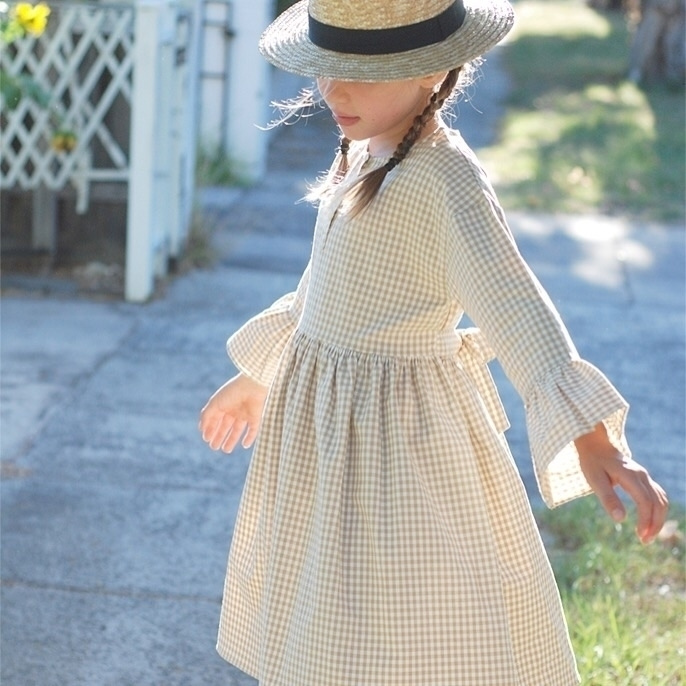 Graceful girl pastel gingham dr - aandjkids | ello