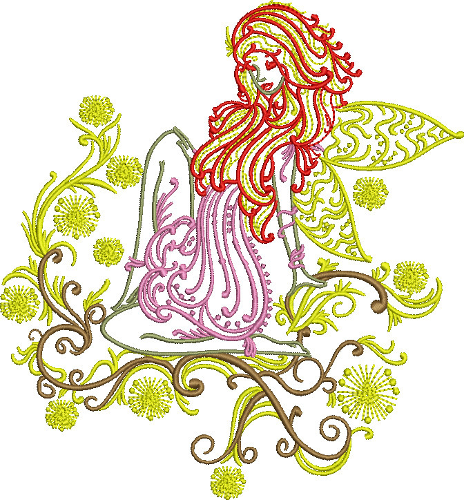 cute embroidered fairy - deanambro101   ello