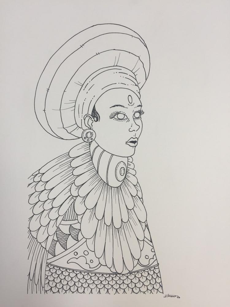 Shaman - illustration, drawing, art - jimmy-draws | ello