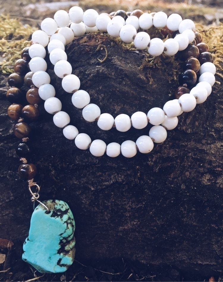 Eye beaded necklace turquoise H - gypsyxjewels | ello