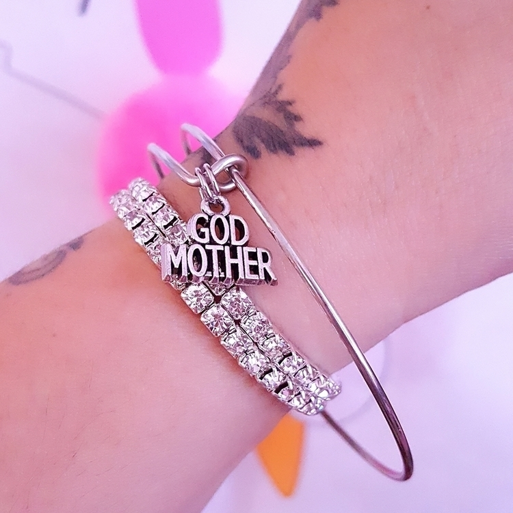 Godmother Charm Bangle Bracelet - pinkbutterflybella | ello