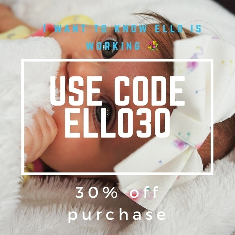 ELLO worth purchase promo code  - rosebabybowtique | ello