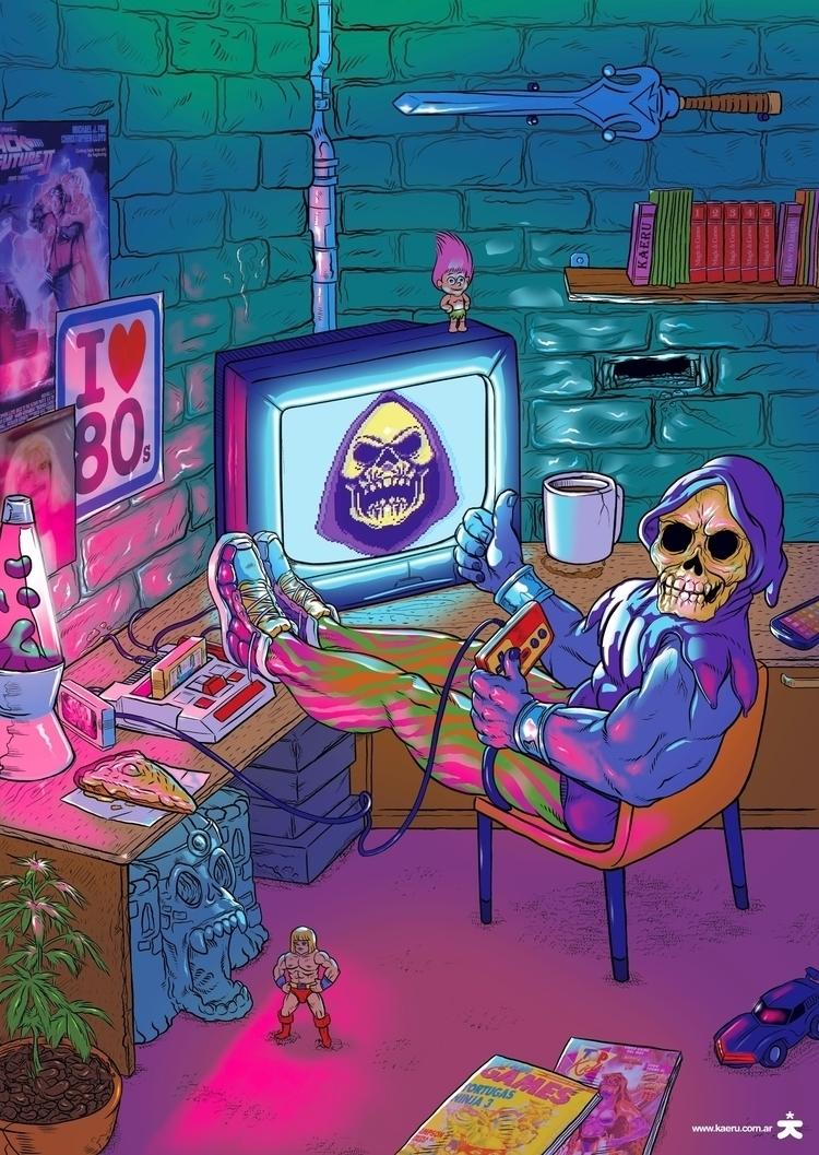 Skeletor illustration Indie Toy - kaeruntastico | ello