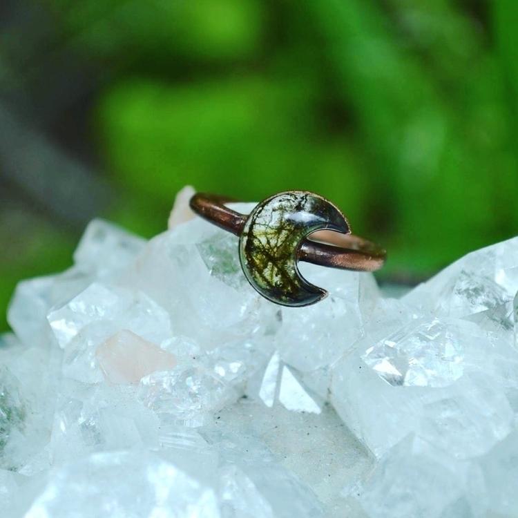 mossy moon copper rings shop! r - lunafloradesigns | ello