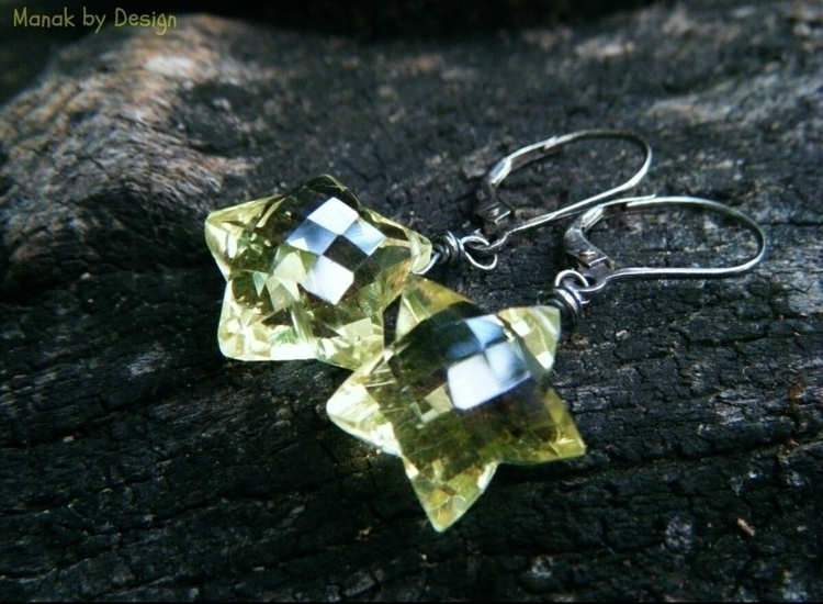 Cool lemon quartz star earrings - manakbydesign | ello
