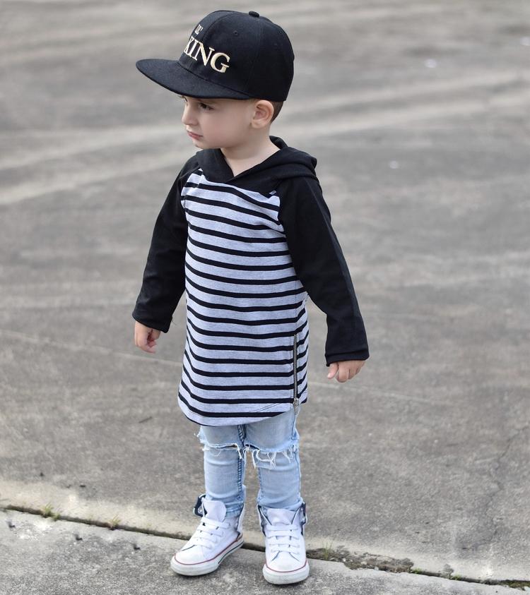 • rad, striped hoodie def popul - masonrydercollective | ello