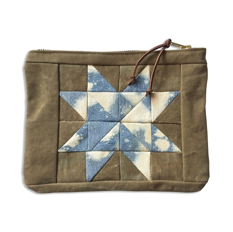 Quilted Star medium zippered po - patrickdenanddelve | ello
