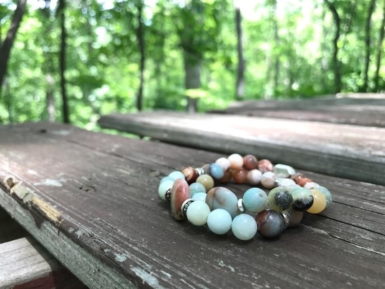 Rhodonite, Amazonite, Opal Pink - newhopeera | ello