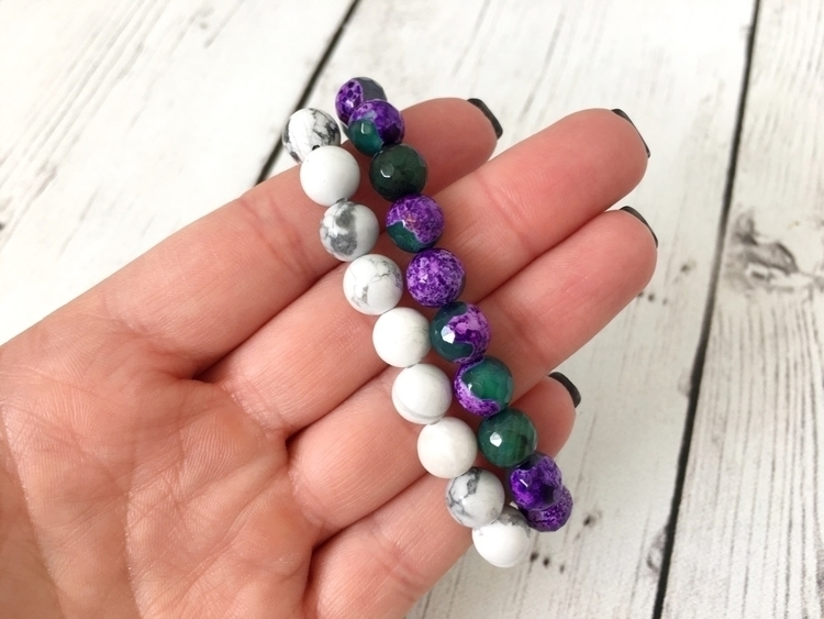 gemstone beaded bracelets heart - fiercelyfreeco | ello