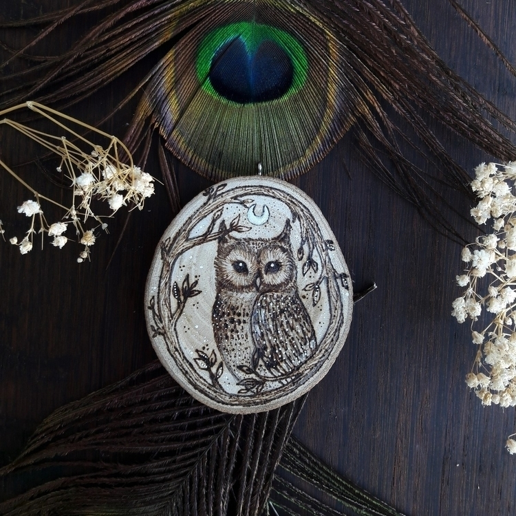 Wood burned owl 🦉 - elloart, ellopainting - magicwood_creations | ello