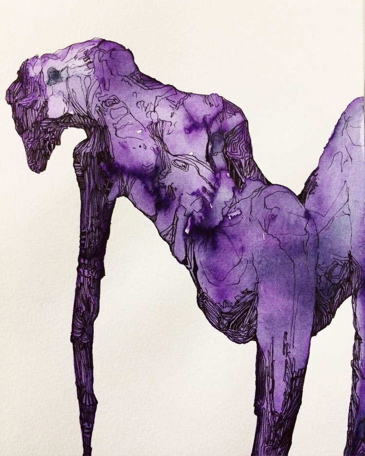 Title: Hold A4 Watercolour ink  - jacobbayneartist | ello