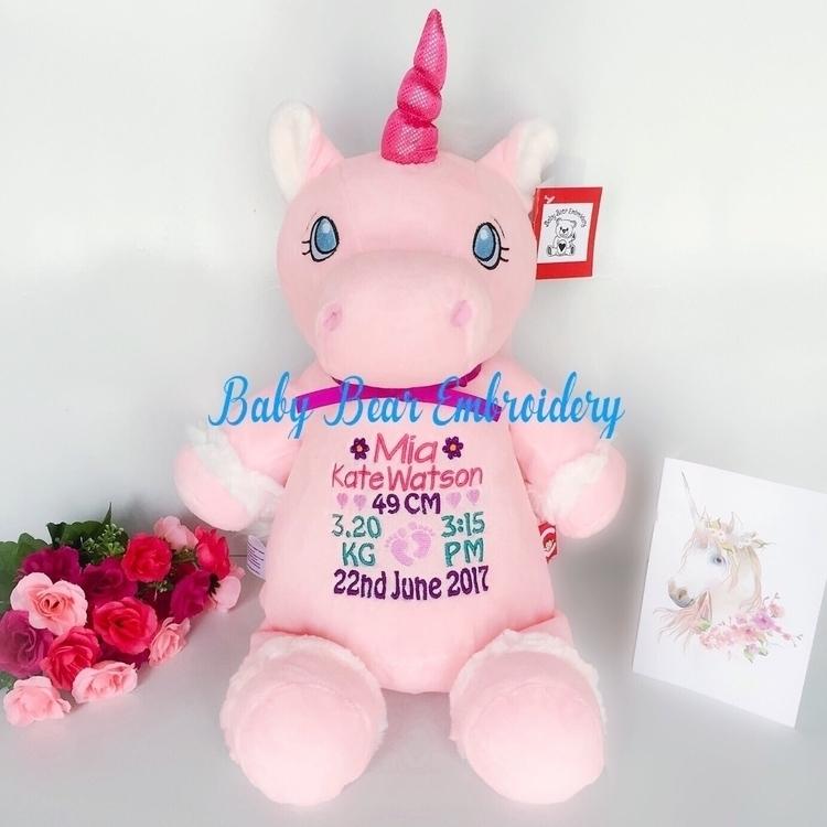 Pink unicorn Mia  - babybearembroidery - babybearembroidery | ello