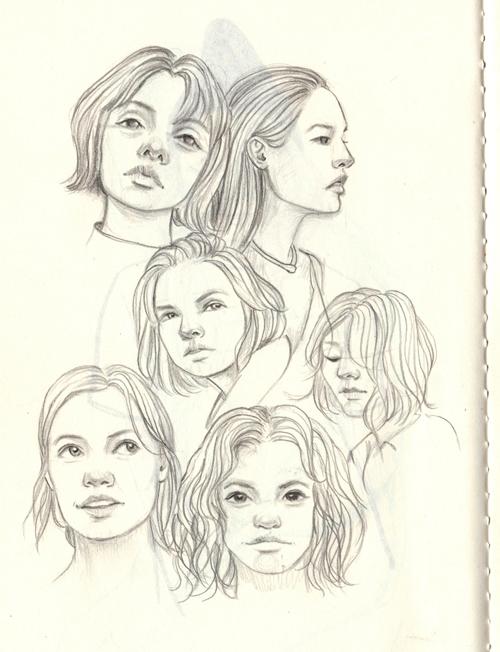 crowd - faces, doodle, drawing, sketch - j0eyg1rl   ello