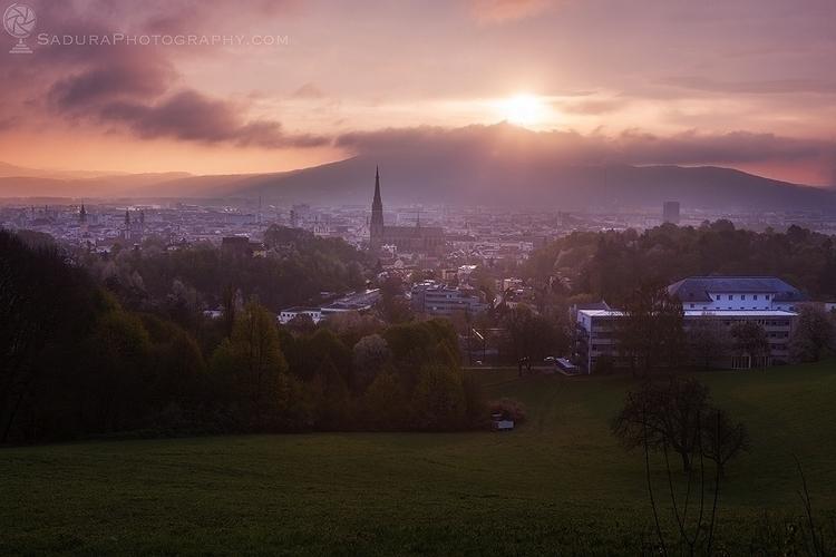 Linz panorama sunrise Linz, Upp - hsphotos | ello